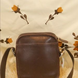 Coach Bags - Small Vintage Coach Brown Leather Crossbody Bag